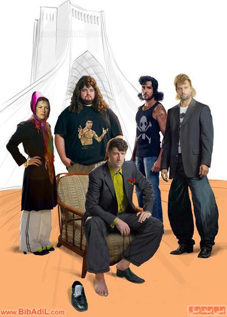 بی بدیل - بازیگران سریال لاست به ایران آمدند