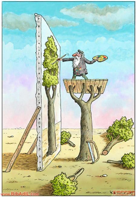 بی بدیل - نقاشی درخت