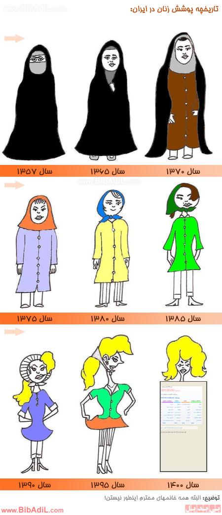 بی بدیل - تاریخچه پوشش زنان ایرانی